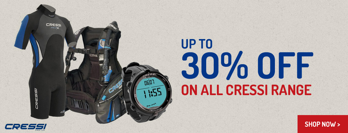 30% off all Cressi Range